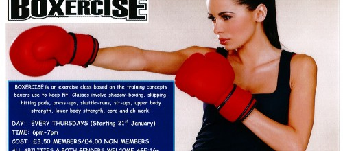 *NEW CLASS* BOXERCISE EVERY THURSDAY 6pm.